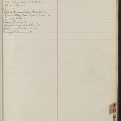Bill Book No. 1, Index T