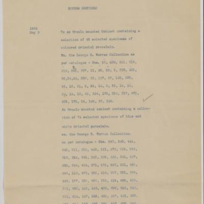 Duveen Brothers Statement, 18 October 1906