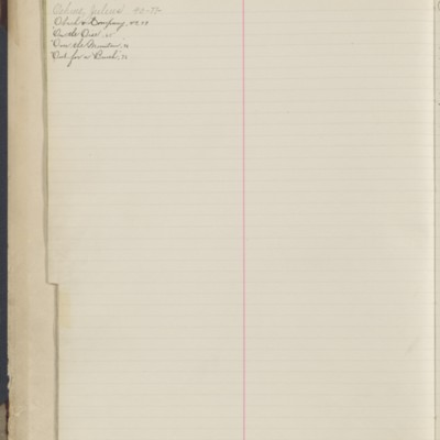 Bill Book No. 1, Index O