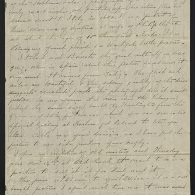 Letter from Charles Carstairs to [Henry Clay] Frick, 3 November 1908 [page 2 of 3]