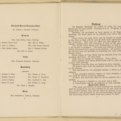 Directory of the New York Browning Society, Tenth Season, 1916-1917 [page 5 of 23]
