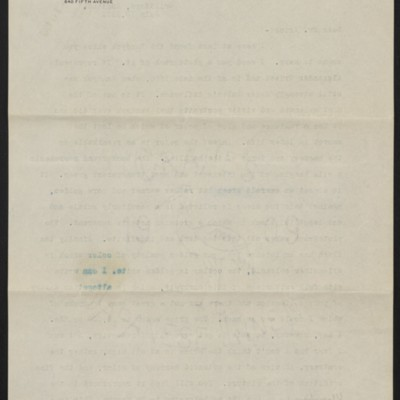 Copy of a letter from Roger Fry to H.C. Frick, 10 July 1911 [back of page 1]