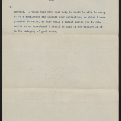 Copy of a letter from Roger Fry to H.C. Frick, 10 July 1911 [page 3 of 3]