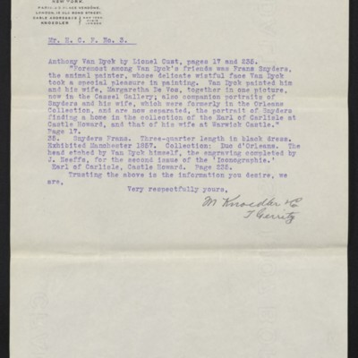 Letter from M. Knoedler & Co. to Henry Clay Frick, 28 September 1909 [page 3 of 3]