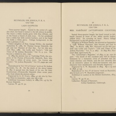 Catalogue of the Henry C. Frick Collection of Paintings, 1908 [pages 22-23]