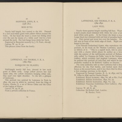 Catalogue of the Henry C. Frick Collection of Paintings, 1908 [pages 14-15]