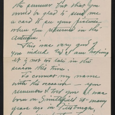 Letter from Janet Orem Van Buskirk to [H.C.] Frick, 12 March 1918 [page 1 of 2]