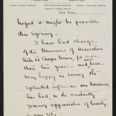 Letter from Mary Gibson to [H.C.] Frick, 8 May 1919 [page 2 of 2]