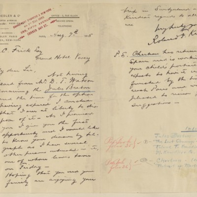 Letter from Roland F. Knoedler to Henry Clay Frick, 7 August 1895