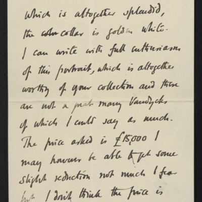 Letter from Roger Fry to [H.C.] Frick, 10 July 1911 [page 3 of 8]