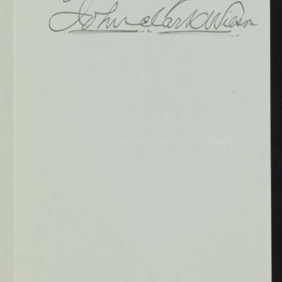 Letter from John Clark Wilson to Henry C. Frick, 7 November 1919 [page 2 of 2]