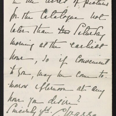 Letter from C. Warren to [H.C.] Frick, 18 March 1915 [page 3 of 3]