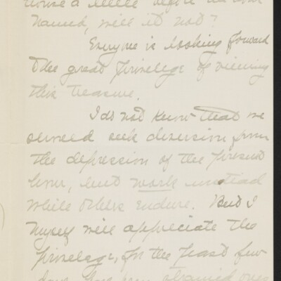 Letter from Jane Fitz Turner to J. Howard Bridge, 10 February 1918 [page 2 of 4]