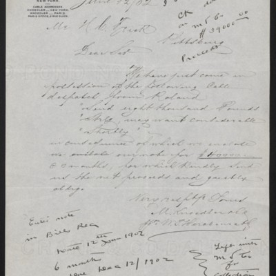 Letter from M. Knoedler & Co. to Henry Clay Frick, 12 June 1902