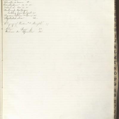 Bill Book No. 2, Index A