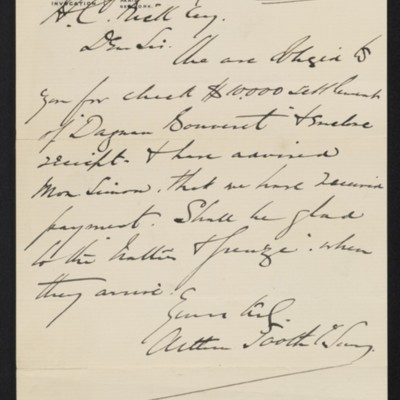 Letter from Arthur Tooth & Sons to Henry Clay Frick, 10 April 1901
