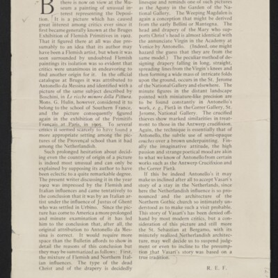 """""""An Important Loan,"""" Bulletin of the Metropolitan Museum of Art, 16 December 1907 [page 2 of 2]"""