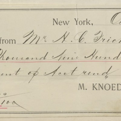 M. Knoedler & Co. Receipt, 1 October 1895