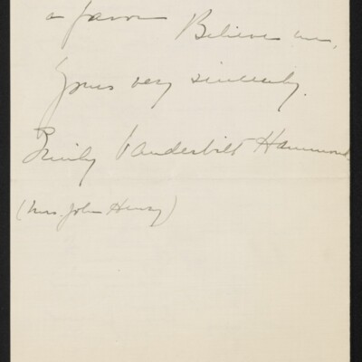 Letter from Emily Vanderbilt Hammond to [H.C.] Frick, 15 February 1918 [page 3 of 3]