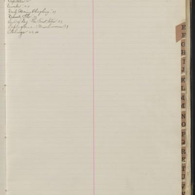 Bill Book No. 1, Index E