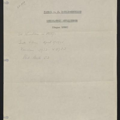 "Information sheet regarding purchase of Dagnan-Bouveret's ""Consolatrix Afflictorum,"" [1909]"