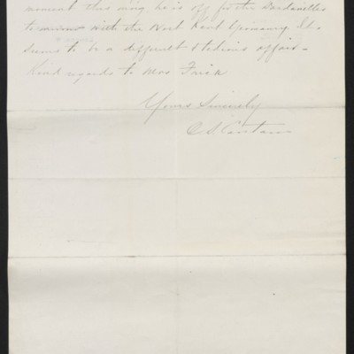 Letter from C.S. Carstairs to [H.C.] Frick, 21 September 1915 [page 2 of 2]