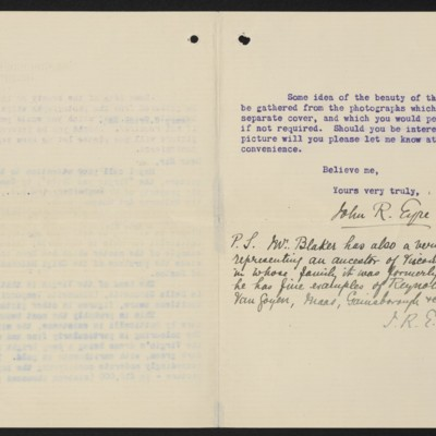 Letter from John R. Eyre to Henry C. Frick, 15 July 1915 [page 2 of 2]
