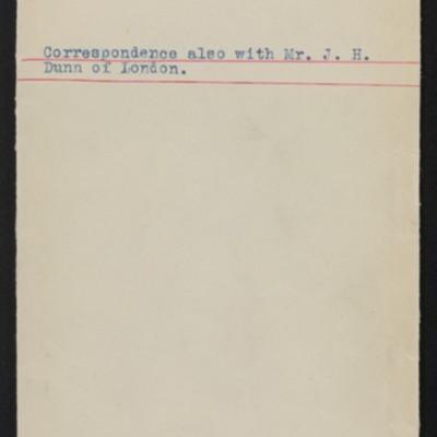 """Envelope for correspondence re Holbein's """"Erasmus von Rotterdam,"""" 1912"""