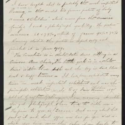 Letter from Charles S. Carstairs to Henry Clay Frick, 3 July 1908 [page 2 of 2]