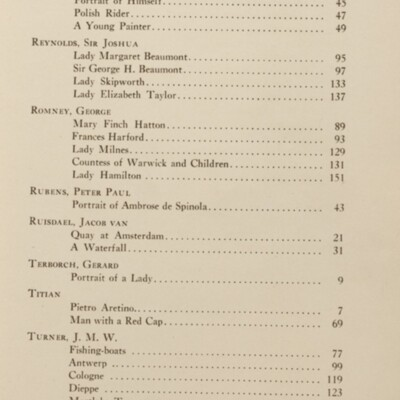 Paintings in the Collection of Henry Clay Frick, 1915 [List of Paintings Described, page ix]