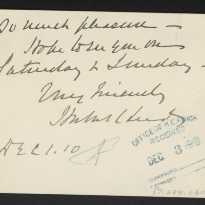 Letter from Herbert C. Leeds to [H.C.] Frick, 1 December 1910 [page 2 of 2]