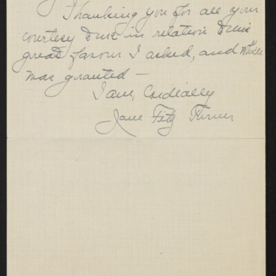 Letter from Jane Fitz Turner to [J. Howard] Bridge, 27 February 1918 [page 4 of 4]