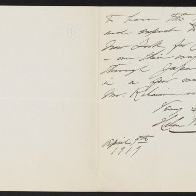 Letter from Helen Foster Barnett to [H.C.] Frick, 9 April 1919 [page 2 of 2]