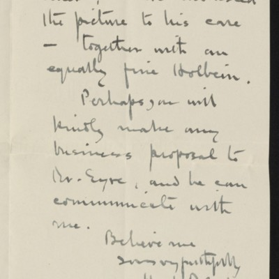Letter from Hugh Blaker to H.C. Frick, 18 September 1915 [page 2 of 2]