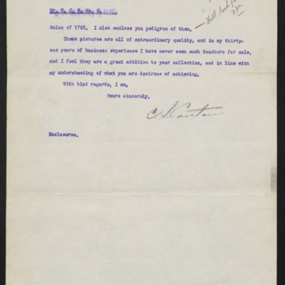 Letter from C.S. Carstairs to H.C. Frick, 23 December 1915, page 2 of 2