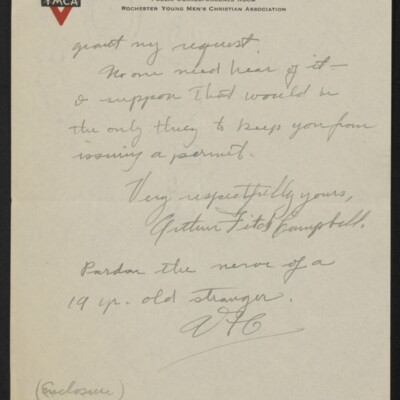 Letter from Arthur Fitch Campbell to Henry C. Frick, 19 December 1918 [page 6 of 6]