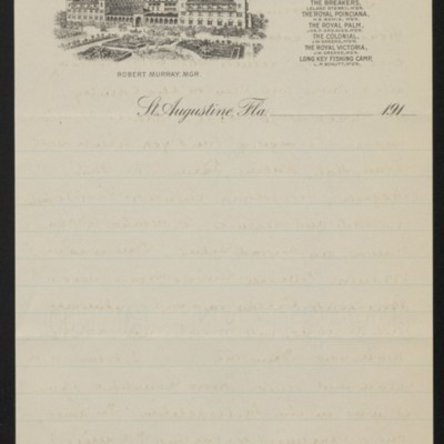 Letter from Slason Thompson to [Alice] Braddel, 12 February 1919 [back of page 2]