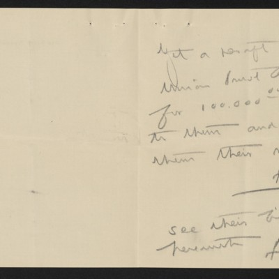 Letter from [Henry Clay Frick] to F.W. McElroy, circa 19 February 1913 [page 2 of 2]