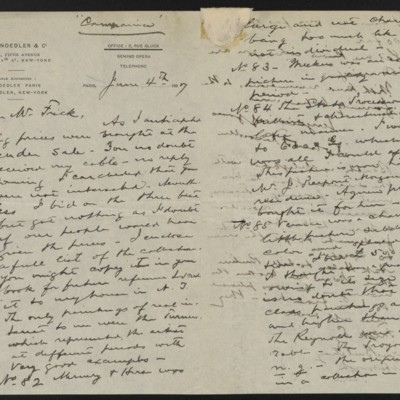 Letter from Roland F. Knoedler to Henry Clay Frick, 4 June 1897