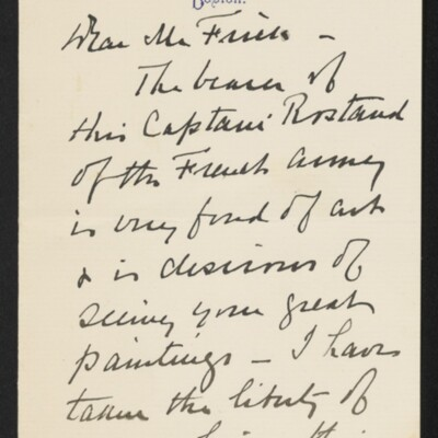 Letter from Herbert C. Leeds to [H.C.] Frick, 20 May 1918 [page 1 of 2]