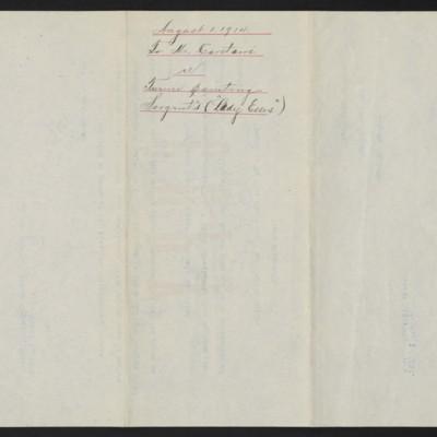 Letter from [Henry Clay Frick] to C.S. Carstairs, 1 August 1914 [back]