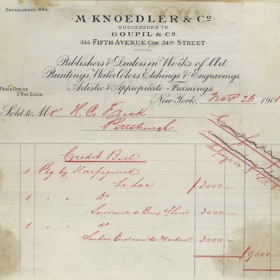 M. Knoedler & Co. Credit Bill, 26 November 1901