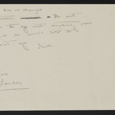 Draft of cable from [H.C.] Frick to [James H. Dunn], [25 July 1914]