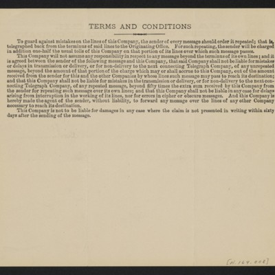 Cable from [Henry Clay] Frick to [Charles S. Carstairs], 29 August 1906 [back]