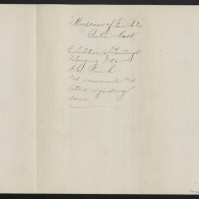 Letter from [H.C. Frick] to T. Jefferson Coolidge Jr., 23 December 1910 [back]