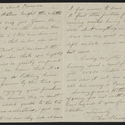 Letter from Charles S. Carstairs to Henry Clay Frick, 26 August 1898, Page 1 of 2