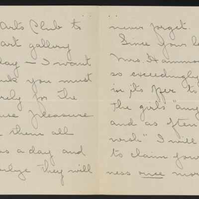 Letter from Josephine DuBois to [H.C.] Frick, circa 15 March 1918 [page 2 of 4]