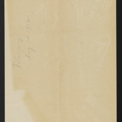Note re letter from C.S. Carstairs concerning Velasquez painting, 14 August 1912 [back]