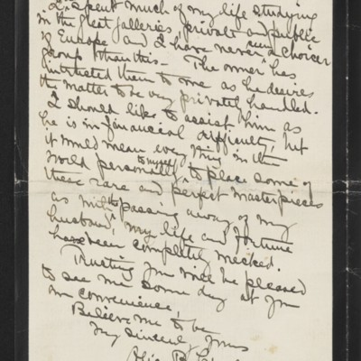 Letter from Alice B. Creelman to [H.C.] Frick, 2 April 1915 [page 4 of 4]