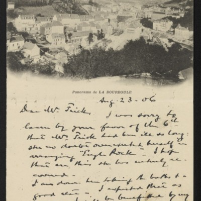 Letter from Roland F. Knoedler to Henry Clay Frick, 23 August 1906